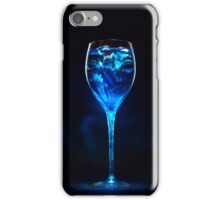 Amazing blue cocktail with ice cubes in high glass iPhone Case/Skin