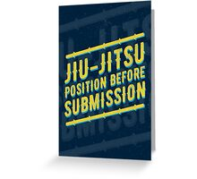 Jiu-jitsu. Position before submission. Greeting Card