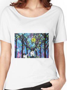 BEST FRIEND ANIMAL FANTASY ART Women's Relaxed Fit T-Shirt