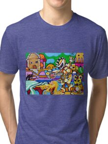 Sleeping Princess // Fantasy Art  Tri-blend T-Shirt