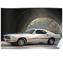 1969 Ford Mustang Mach I Fastback Poster