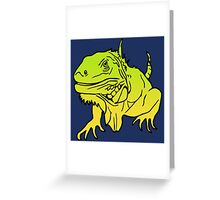Iguana - Leguan Reptile Greeting Card