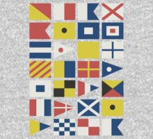 Nautical flag pattern Kids Clothes