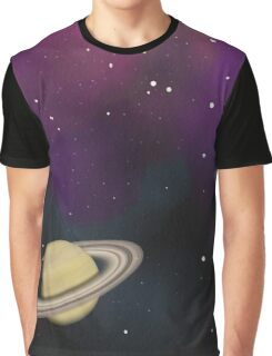 Saturn - Alien Ring Planet and Galaxy Graphic T-Shirt