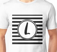 L Striped Monogram Unisex T-Shirt