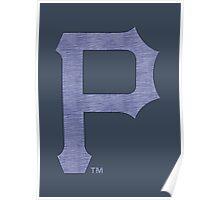 °BASEBALL° Pittsburgh Pirates Denim Logo Poster