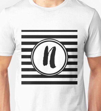 N Striped Monogram Unisex T-Shirt