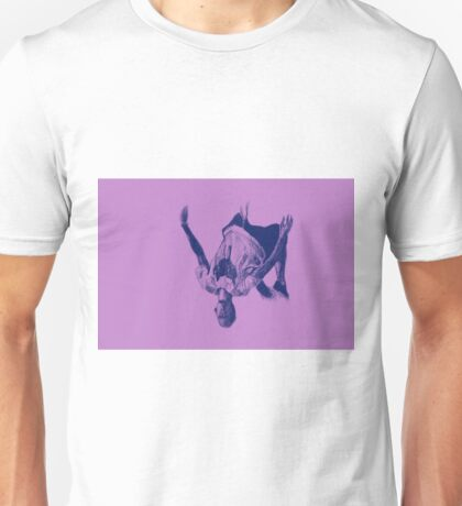 Parkour athlete jumping drawing Unisex T-Shirt