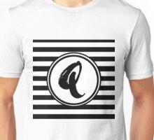 Q Striped Monogram Unisex T-Shirt
