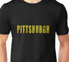 Vintage Pittsburgh Distressed Text Unisex T-Shirt