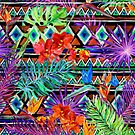 BoHo Tropical Tribal Florals by SpiceTree