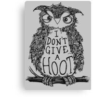Not a single hoot was given Canvas Print