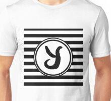 Y Striped Monogram Unisex T-Shirt