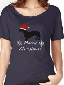 Christmas Dachshund Women's Relaxed Fit T-Shirt