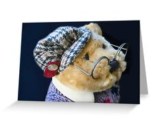 Professor Bear Greeting Card