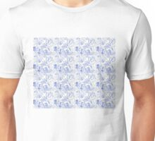 Butterfly Montage, blue Unisex T-Shirt