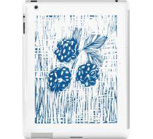 Blackberries Print (Blue) iPad Case/Skin