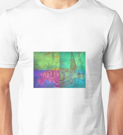 Colorful Wild Beautiful Sea Turtle Painting  Unisex T-Shirt