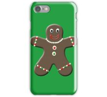 Cute Gingerbread Man iPhone Case/Skin