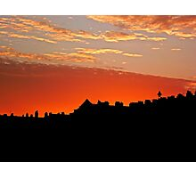 Sunset Over The Rooftops at Hove Photographic Print