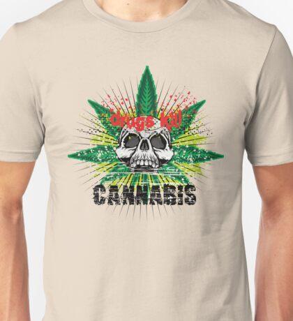 CANNABIS DONT DO DRUGS SKULL Unisex T-Shirt