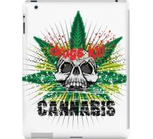 CANNABIS DONT DO DRUGS SKULL iPad Case/Skin