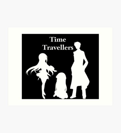 Time Travellers (White Edition) Art Print