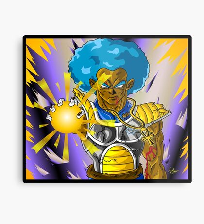 Super Saiyan God Trebled Metal Print