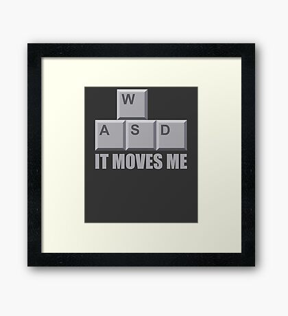 WASD PC Gamer T Shirt Framed Print