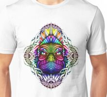 Colorful Lizard King in Mystical Eye Border Unisex T-Shirt