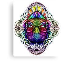 Colorful Lizard King in Mystical Eye Border Canvas Print