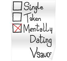Mentally Dating Vsauce Poster