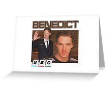 Benedict Cumberbatch 90s tee Greeting Card