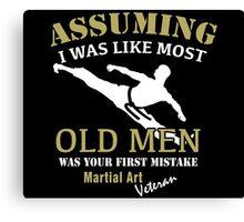 Martial Art Veteran Canvas Print