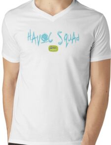 Havoc Squad - Turquoise Mens V-Neck T-Shirt