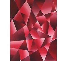 Abstract Shattered Glass Photographic Print