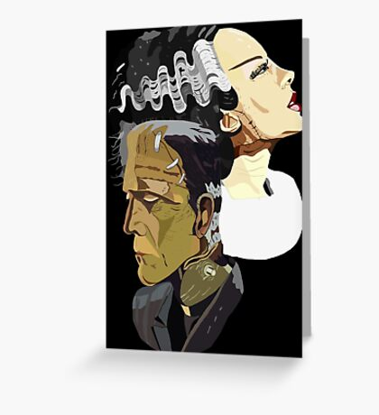 Frankenstein's Monster and his bride Greeting Card