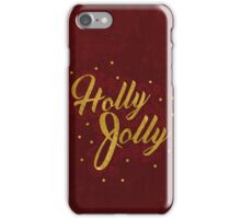 Holly Jolly Red iPhone Case/Skin