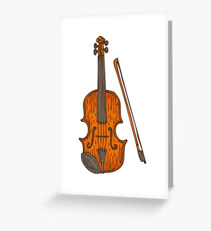 Fiddle Greeting Card