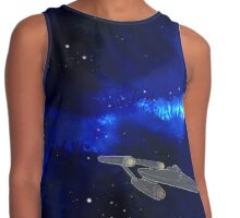 Inky blue space Contrast Tank