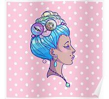 Grungy Antoinette Poster
