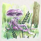 Empire of Mushrooms: Laccaria Amethystina by Barbora  Urbankova
