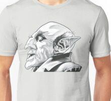 Nosferatu Profile in Black and White Unisex T-Shirt