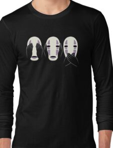 no face ghost Long Sleeve T-Shirt