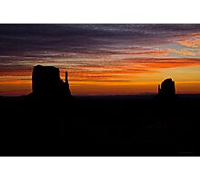 Mittens At Sunrise Photographic Print
