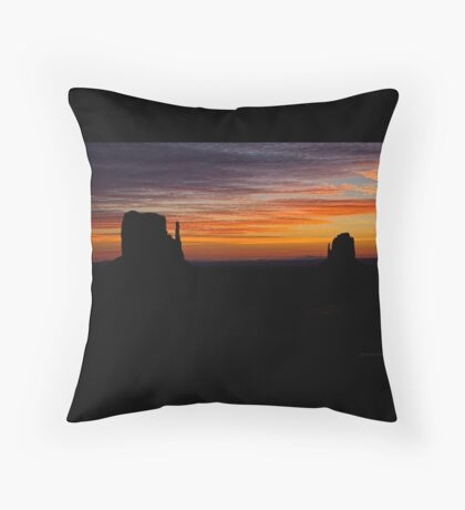 Mittens At Sunrise Throw Pillow