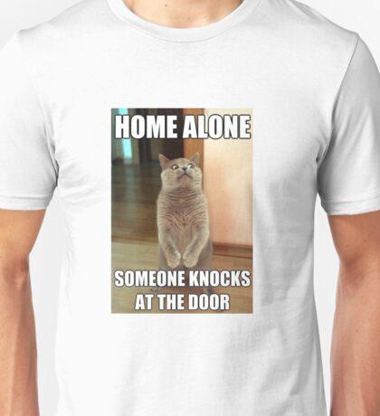 Hilarious cat home alone meme Unisex T-Shirt