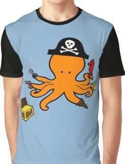 Pirate Octopus Graphic T-Shirt