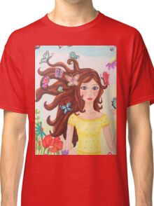 Butterfly girl  Classic T-Shirt