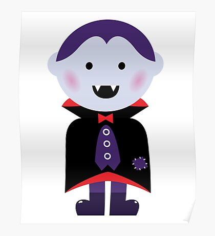 New! Vampire hand-drawn cute Characters Poster